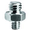 Manfrotto 147 1/4  and  3/8 Inch Short Adaptor Spigot