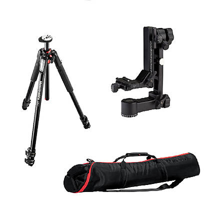 Rentals Manfrotto 055PRO3, Benro GH3 Gimble, and 90P Bag