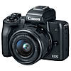 Canon EOS M50 Mirrorless Camera with 15-45mm Lens - Black