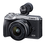Canon EOS M6 Mark II Mirrorless Camera with 15-45mm Lens  and  Viewfinder Kit (S