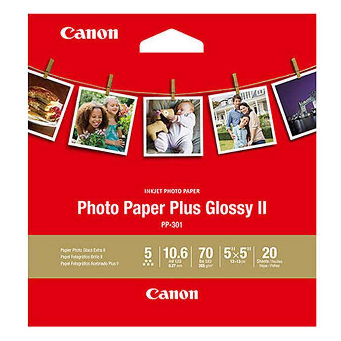 Canon 5x5 Photo Paper Plus Glossy Ii 20 Sheets Printing Scanning