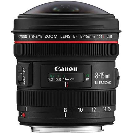 Canon EF 8-15mm f/4L Fisheye USM Ultra-Wide Zoom Lens - Black