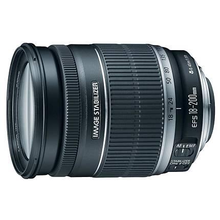 Canon EF-S 18-200mm f/3.5-5.6 IS Standard Zoom Lens - Black