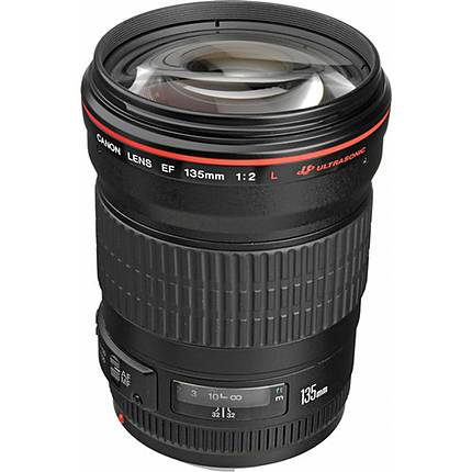 Canon EF 135mm f/2L USM Telephoto Lens - Black