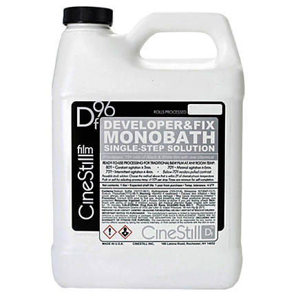 Cinestill DF96 Developer  and  Fix Monobath for Black  and  White Film (1L)
