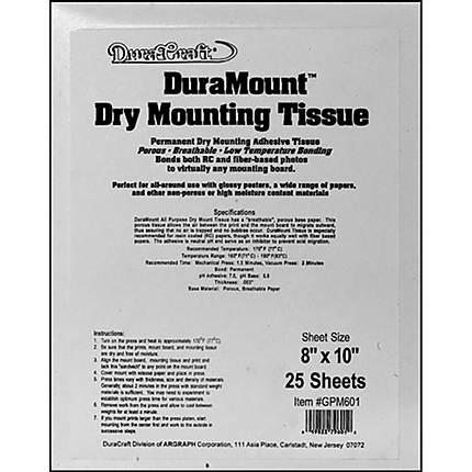 Dry Mount Tissue 8x10 (25)
