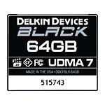 Delkin Devices 64GB CF Black 160MB/s Read 120MB/S Write UDMA 7