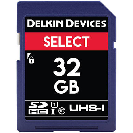Delkin Devices 32GB SDHC UHS-I V10 100MB/s Read 30MB/s Write