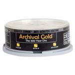 Delkin Devices DVD-R Archival Gold Scratch Armor Recordable Disc 25 Spindle