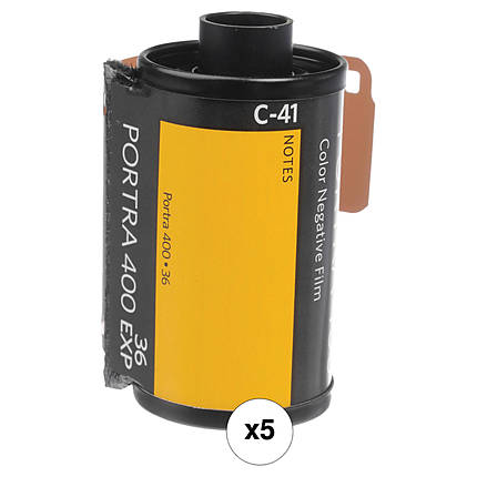 Kodak Portra 400 135-36 Professional Film (replaces 400NC  and  400VC) 5 Pack