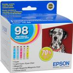 Epson T098 High Capacity Claria Ink: Full Color Cartridge Set