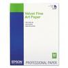 Epson 17x22 Velvet Fine Art Paper - 25 Sheets