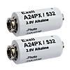 Exell Battery A24PX 2-Pack Alkaline 3v Batteries