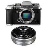 Fujifilm X-T2 Mirrorless Digital Camera (Silver) with XF 27mm f/2.8 Lens