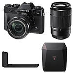 Fujifilm X-T20 Camera with 16-50, 50-230, Grip, and  Black Share SP-3 SQ Printer