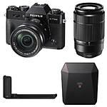 Fujifilm X-T20 Camera with 16-50, 50-230, Grip, and  Black Share SP-3 SQ Printer