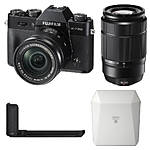 Fujifilm X-T20 Camera with 16-50, 50-230, Grip, and  White Share SP-3 SQ Printer