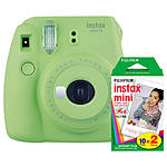 Fujifilm Instax Mini 9 Lime Green Camera with Mini Film Twin Pack