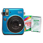 Fujifilm Instax Mini 70 Camera Island Blue  and  Instax Mini Film Twin Pack