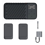 GNARBOX 2.0 SSD (256GB) Rugged Backup Device w/2x Batteries, XQD Reader,  and  D