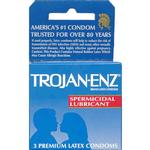 Trojan Condoms 3pk    Dark Blue Spermicidal Lubricated