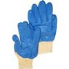 Blue Palm Knit Gloves All Purpose Work Gloves