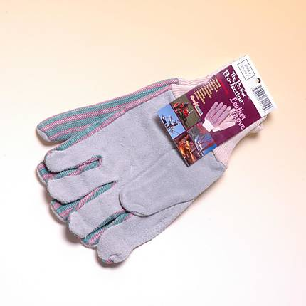Leather Palm Gloves Knit Wrist All Purpose Work Gloves (Brands Vary)