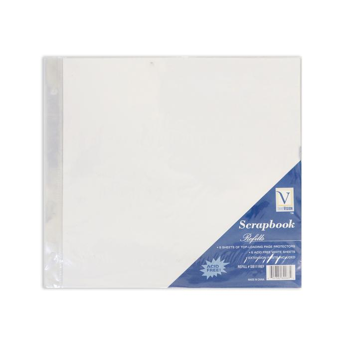 Scrapbook Top Loading Refill Pages 5 12x12 Pages Extra Posts