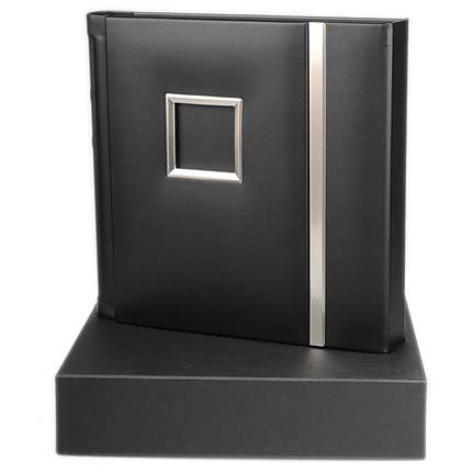 Prugio 10x10 REPOSITIONABLE Album 20 Pages Black