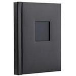 Unique Repositionable Album  20 Peel and Mount 8 x 10 Pages (Black Leather)