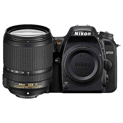 Nikon D7500 DX-format DSLR with 18-140mm VR Lens Black