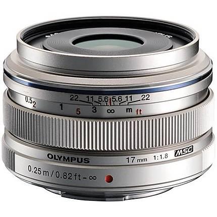 Olympus M.Zuiko Digital 17mm f/1.8 Wide Angle Prime Lens - Silver
