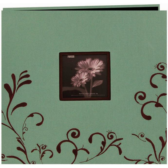 Pioneer 4 x 6 In. Embroidered Scroll Frame Photo Album (200 Photos ...