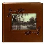Pioneer 4 x 6 In. Embossed Leather Frame Photo Album (200 Photos)-Brown Ivy