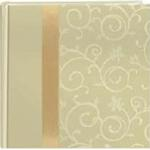 Pioneer 4 x 6 In. Embroidered Scroll Fabric Photo Album (200 Photos)White