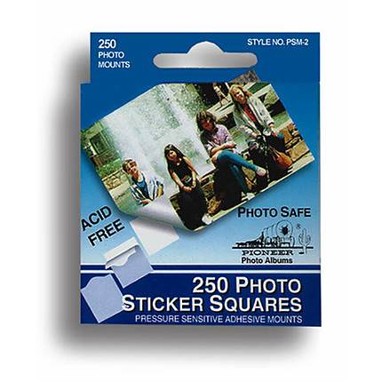 Pioneer Photo Mounts Double Sided Self-Stick Square Tabs (250 Photos)