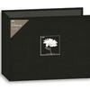 Pioneer 12X12 3-Ring Binder Fabric Frame Scrapbook - Black