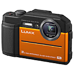 Panasonic Lumix DC-TS7 Waterproof Digital Camera (Orange)