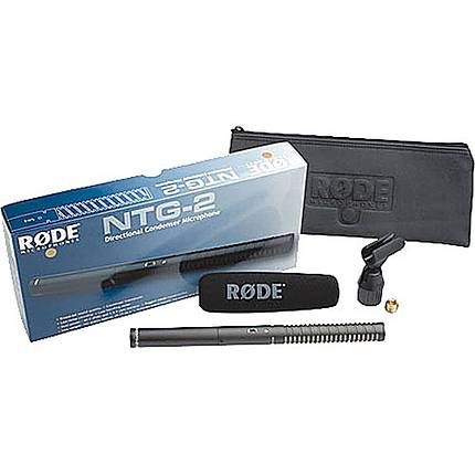 Rode NTG-2 Multi Powered Condenser Shotgun Microphone (Black)