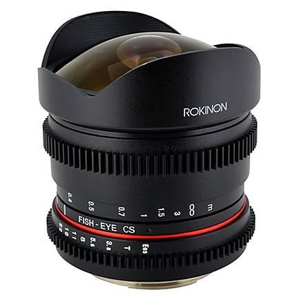 Rokinon 8mm T/3.8 Fisheye Cine Lens for Canon