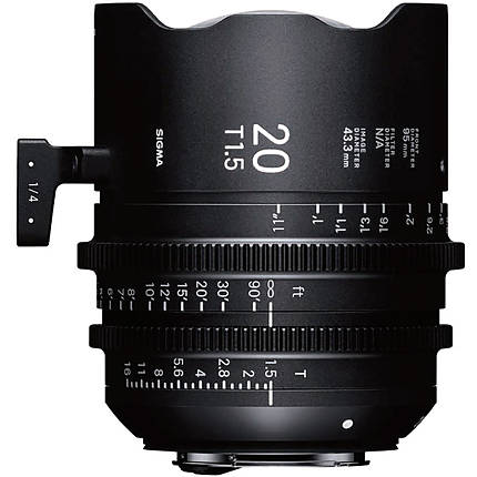 Sigma 20mm T1.5 FF High-Speed Prime Lens (Canon EF, Metric)