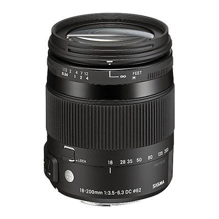 Sigma DC Macro OS HSM 18-200mm f/3.5-6.3 Telephoto Lens for Nikon - Black