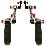 Shape Telescopic Handle with ARRI Rosettes - Black  and  Red