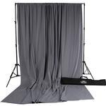 Savage Accent Muslin Background Kit 10x24 - Gray