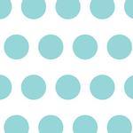 Savage 53X18 Printed Background - Aqua Polka Dot
