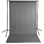 Savage Gray Solid Muslin Backdrop with Background Support Stand