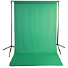 Savage Chroma Green Solid Muslin Backdrop with Background Support Stand