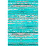 Savage 5x7 Distressed Teal Wood Floor Drop