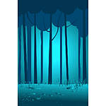 Savage 5x7 Night Blue Woods Printed Vinyl Background
