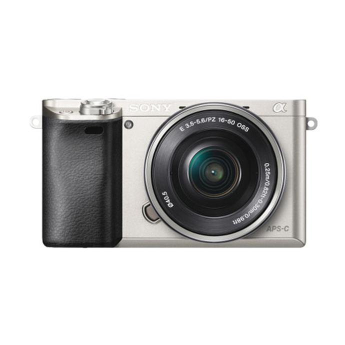 sony mirrorless camera. sony alpha a6000 24mp mirrorless camera-silver with 16-50mm lens-black camera s